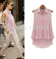 Free shipping women's plus size chiffon shirts , turndown collar cardigan chiffon shirts,chiffon women blouses 3 colour
