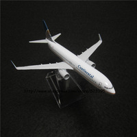 16cm Alloy Metal Airplane Model Amerian Air Continental Airlines Boeing 737 B737 800 Airways Plane Model W Stand Aircraft Toy