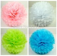 Free shipping 20pcs 15cm/6'' Tissue Paper Pom Poms Wedding Party Baby Shower Nursery Festival Decoration