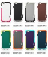 "200 pcs/lot Colorful Walnutt Hybrid Armor Plastic TPU Fashion Korea Style color border Back Cover for iPhone 6 4.7"" and iphone 6"