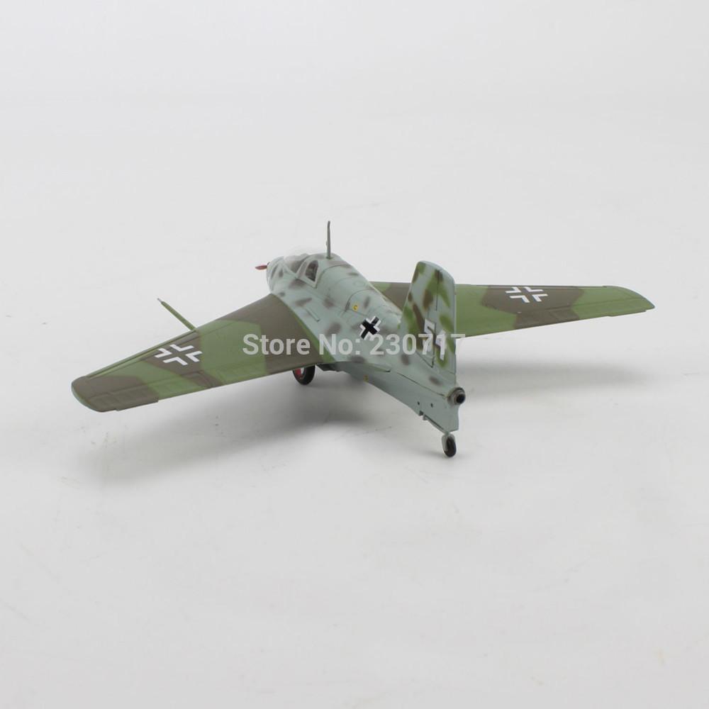 NEW WWII AIRCRAFT Model Messerschmitt Me163 B-1a Air Fighter Plane 1/72 Scale(China (Mainland))