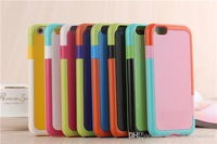 """200 pcs/lot Fashion Korea Style Walnutt colorful hybird TPU+PC Shockproof Soft Back Cover Case for iphone 6 4.7"""" and iphone 6 pl"""