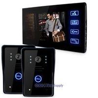 "7"" Video Doorphone Intercom Doorbell Home Security 2Cameras+1Monitor Night Vision,"