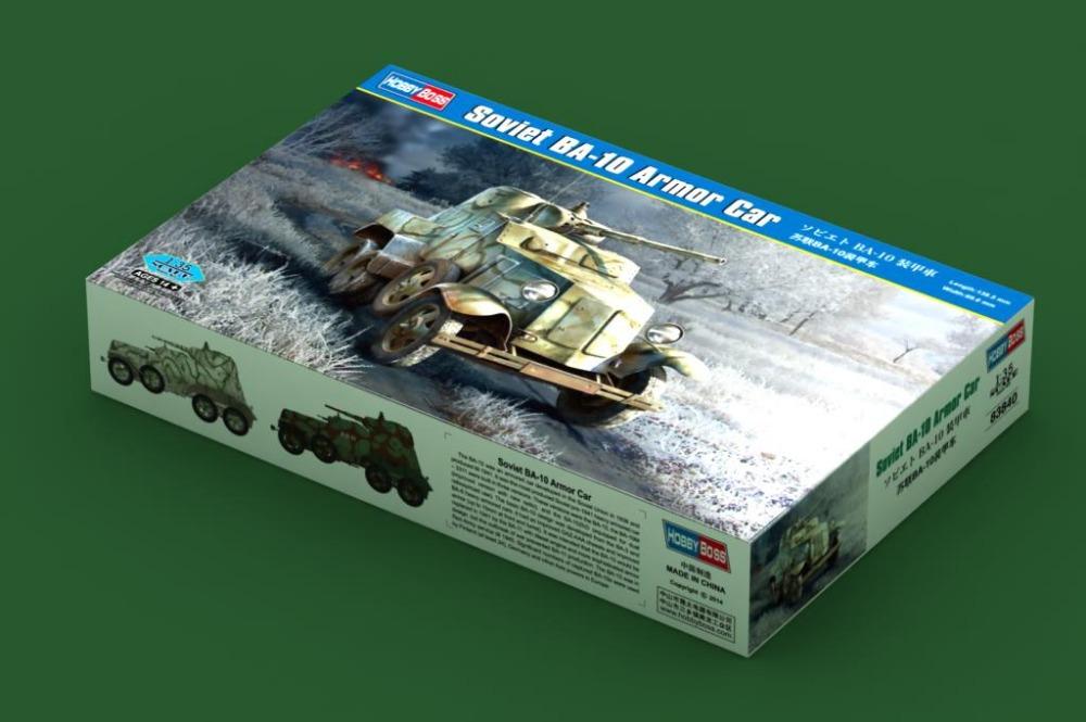 Hobby Boss model 83840 1/35 Soviet BA-10 Armor Car plastic model kit(China (Mainland))