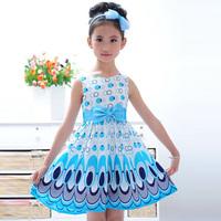 Free shipping 2014 summer baby girls dancing clothing princess children tutu Boho kids dresses vestidos Chiffon 8020D.