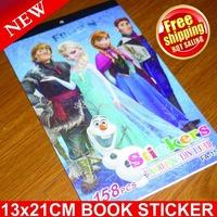 Wall Decals Wall Clock All free Shipping!!200pcs/lot Frozen Books Sticker, Santa Size:13*21cm, Children Sticker,book Sticker
