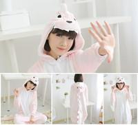 2014 lovely winter sleepwear animal home clothing warm pajamas pink dinosaur unisex cosplay costumes
