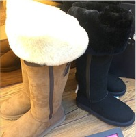 2014 Hot sale Snow Boots 100% Australia Sheepskin Wool lining genuine leather winter women's snow  boots High quality  ygy031