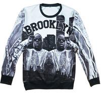 Alisister new fashion women/men 3d character sweatshirts Biggie smalls Brooklyn printed pullover hoodies Harajuku style sweater