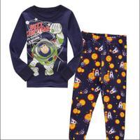 Children buzz lightyear cartoon long sleeve pajamas winter cotton baby boys pijamas kids suits pyjamas costume sets