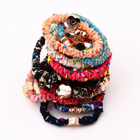 The new fashion hit fold cloth rope headdress hairpin ms elastic hair bands
