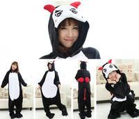 2014 Black winter devil sleepwear animal pajamas cartoon home clothing unisex cosplay costumes