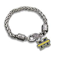 Zinc Alloy Michigan Wolverines Pendants Bracelet Men Fashion Bracelet