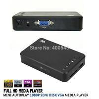New Full HD Media Player Mini Autoplay 1080p USB External HDD SD/U Disk Media Player With VGA AV Output support MKV RMVB WMV