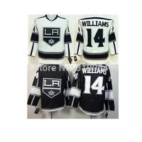 2014 Los Angeles Kings Hockey Jerseys 14 Justin Williams Jersey Home Black White LA Kings Stitched Jerseys Free shipping