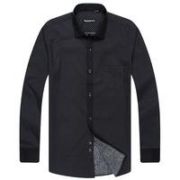 100% male cotton long-sleeve shirt the elderly men's clothing 100% cotton shirt clothes
