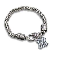 New York Yankees Team Tag Charm Bracelets For Sport Men Jewelry