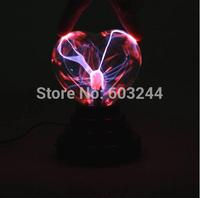 Free Ship 3 Inch Heart Shape USB Ion Crystal Lightning Electronic ball purify air Plasma Light Music Ball Nice Box
