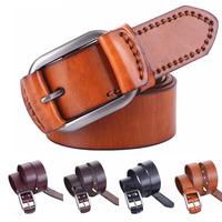 New men luxury high quality 100% Genuine Cowskin Belts Fashion Cowskin Belts Men's Classical Leather Belts