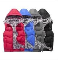1Hot! MSALE-2014 Men's autumn and winter cold and warm down cotton Waistcoat Both sides wear cotton vest  women vest Men Coat 11