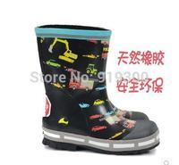 Free Shipping Kids Boys Fashion Cars Cartoon Rubber Rainboots Anti-slip Children Waterproof Rain Boots Water Shoes #KS6