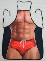 Fashion new style Novelty sexy muscle man sleeveless apron party dress fun love funny gift Barbecue Kitchen Cooking