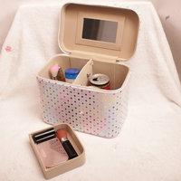 Women's handbag storage box cosmetic bag capacity handbag japanned leather cosmetics case female KX079