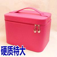 Spring and summer women's handbag bags plaid professional cosmetic bag box big capacity storage handbag KX078