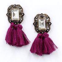 New 2014 fashion jewelry hot sale women crysta vintage tassel statement bib stud Earrings for women jewelry Factory Price