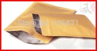 100X FREE SHIPPING 20x30cm Brown Flat bottom kraft paper bag for christmas gift / food / tea / coffee retail packaging