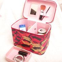 4 Large cosmetic box female big capacity storage cosmetic bag handbag women's japanned leather fashion handbag K099