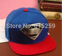 2014 Hot selling Superman Caps winter hat baseball cap hiphop adjust flat caps
