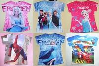 New hot Kids cartoon spring autumn long sleeve tees tops girls Frozen princess t shirts children's fashion cotton t-shirt