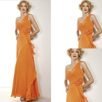 Exquisite Workmanship Hot Sell Chiffon One Shoulder Evening Dress Made In China --- EV0002