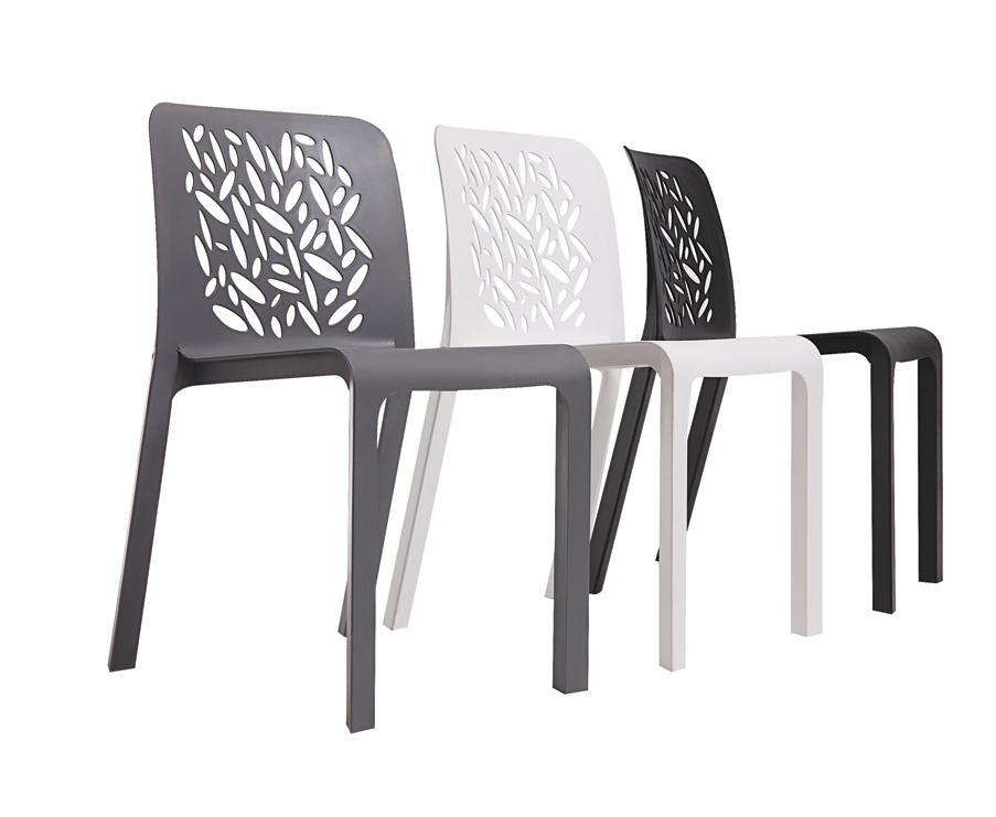 Eetkamerstoelen Plastic : Modern Plastic Outdoor Chairs