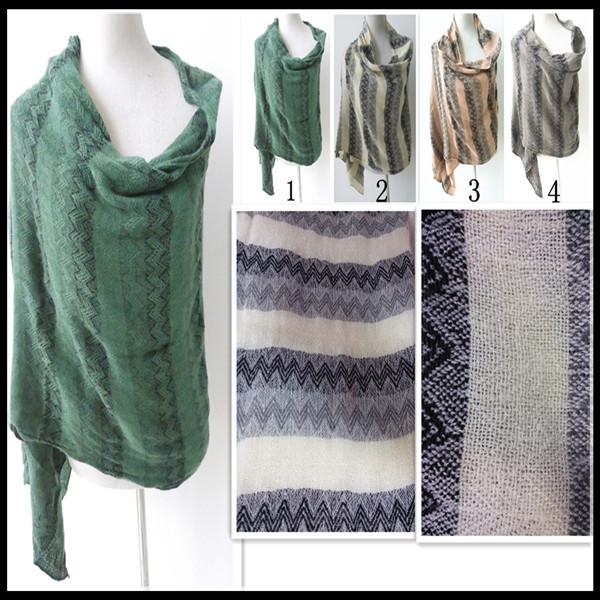 PG1205infinity winter warm scarf inmitate pashmina zigzag knitted scarf camouflage cardigan(China (Mainland))