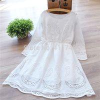 Forest Mori Girl Cotton Dress Long-sleeve Embroidery Cawaii Princess Lolita Winter Dress Cute Brandy Melville Vestido Oncinha
