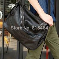 Rivet decoration PU leather hot sale men shoulder bags handbags/Motorcycle designer brand men messenger bags wholesale