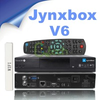 (5pcs/lot) JynxBox Ultra HD V6 with Jb200 module build in wifi twin Tuner Support Cccam and Newcamd Sharing fast free shipping