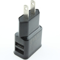 1PCS 2 Port Dual 5V 2A USB US Plug Wall Charger For iPhone 6 6+ 5S iPad Mini for SAMSUNG Galaxy S4 S3 for HTC One Sony  Nexus
