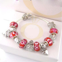 P50  925 chamilia bead bracelet for women.Fashion bracelets.Silver jewelry.Free shipping