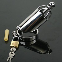 Male Chastity Stainless Steel Cock Removable Urethral Sounds Penis Prohibit Ejaculation Devices