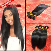 6A Peruvian Virgin Hair Straight 3pcs/lot Unprocessed Virgin Hair Peruvian Straight Bundles Extension Gaga Hair Products