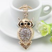 Manufacturers selling fine owl Keychain bags car keys ornaments animal zodiac Pendant