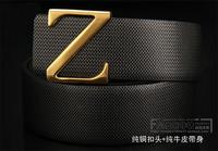 Men's leather belt z word cowhide belt male Korean men's fashion belt buckle14111912