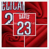 Davis 2014-15 New Jerseys, Stitched New Orleans #23 Anthony Davis 2014-15 New Alternate Red Basketball Jerseys, Logoman On Back.
