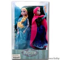 2PCS/lot!Frozen toys  11 Inch Frozen Princess Dolls Frozen Elsa&Anna Toys for Baby Girls boys Joint Moveable toys