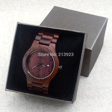BEWELL Natural African Zebra Wooden Watches Maple Sandalwood Slim Dial Calendar Men Men's Women Quartz Wrist Watch + Gift Box(China (Mainland))