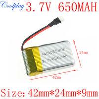 Free Shipping 3.7V 650mAh  Lipo Battery for Syma X5C X5 Upgraded 650mAh battery