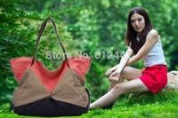 Hot Sale ! Free Shipping Fashion New Design Patchwork Canvas Women Shoulder Bag Lady Handbag